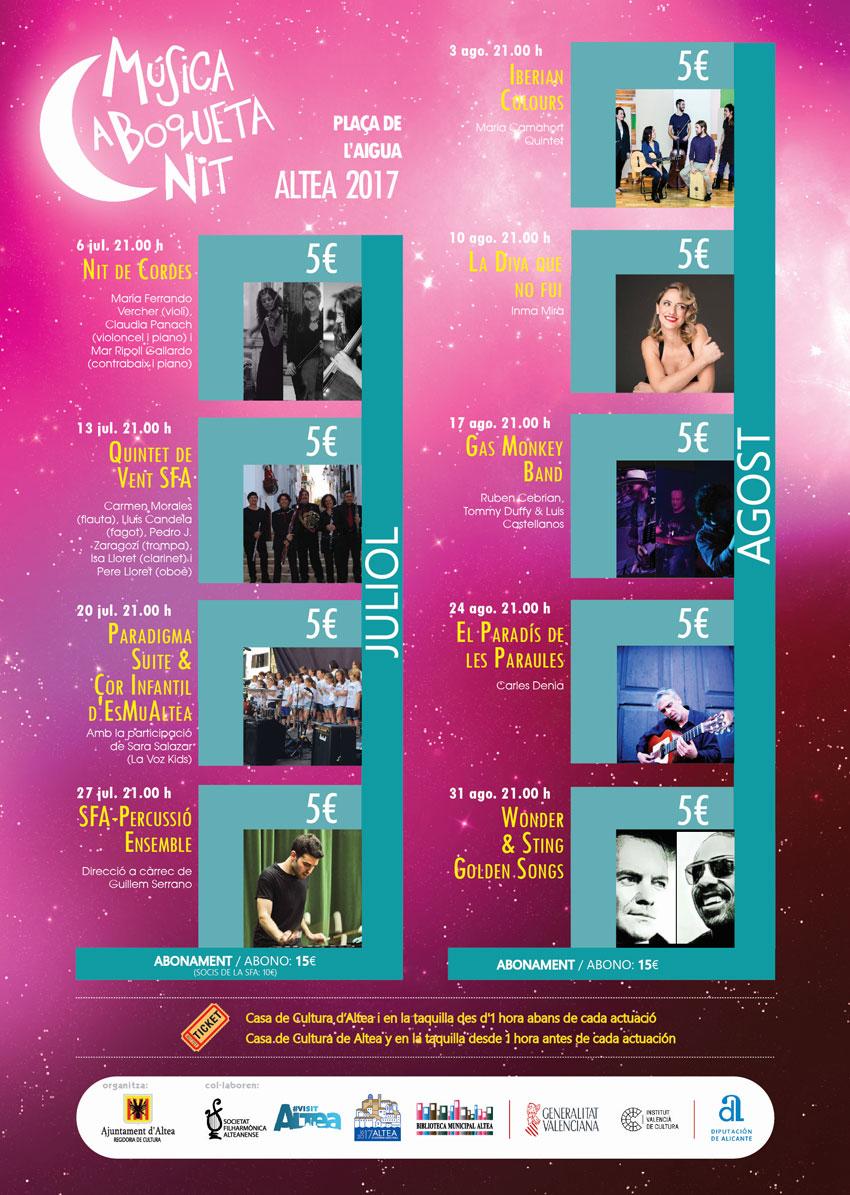 """Ja estan a la venda els abonaments per als concerts d'agost de """"A Boqueta Nit"""""""