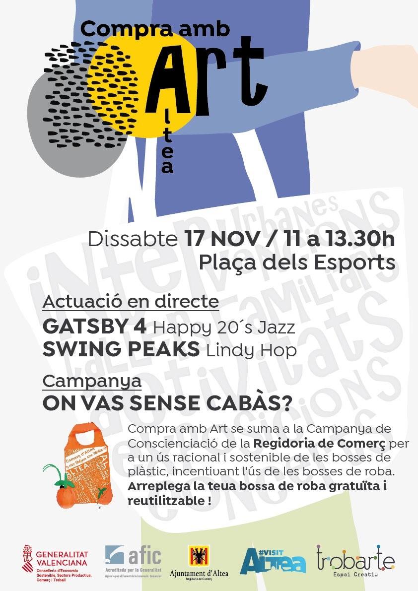 """Continuen les activitats de la campanya """"Compra amb art"""", aquest dissabte 17 de novembre, d'11:00 a 13:30 hores a la Plaça els Esports"""