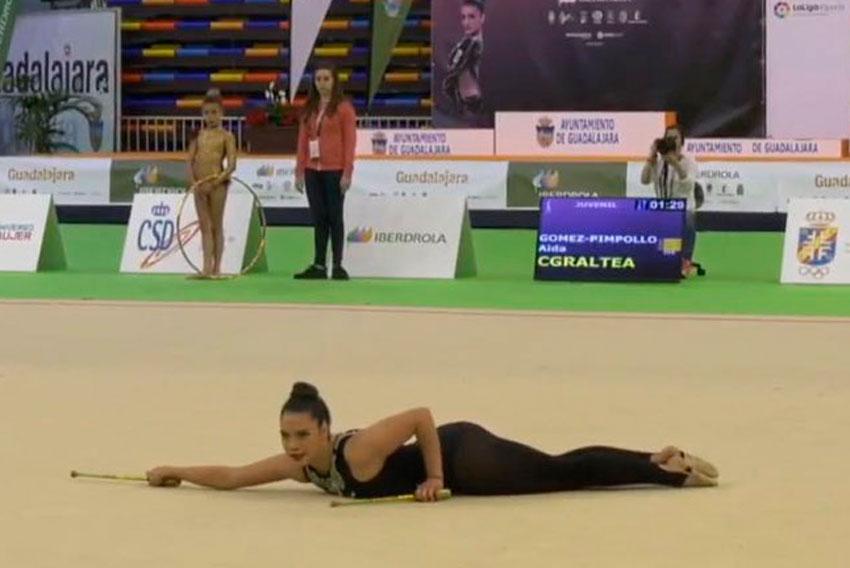 El Club de Gimnàstica Rítmica Altea culmina una setmana d'èxits amb la participació d'Aida Gomez en el Campionat d'Espanya