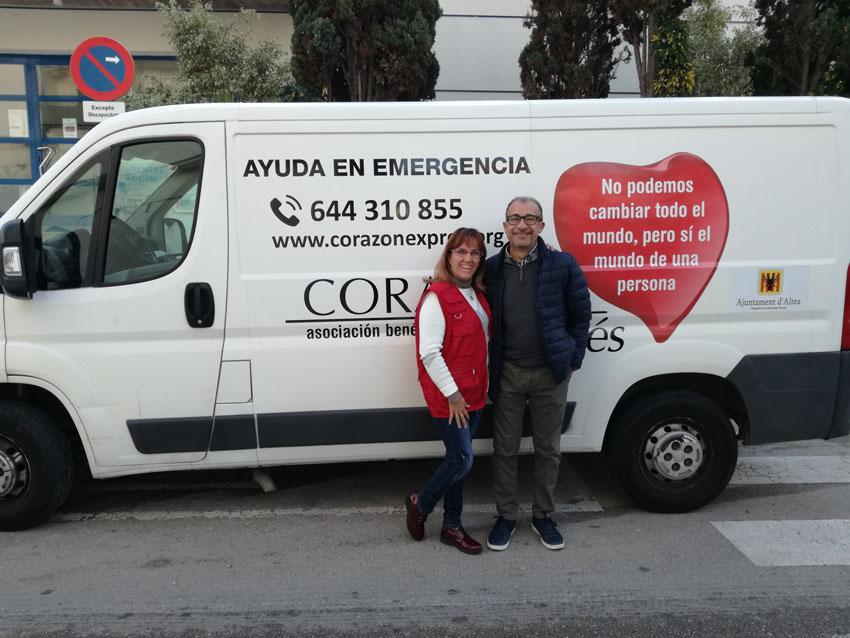 Corazón Exprés adquiere un vehículo mediante una subvención municipal de 3.000 euros