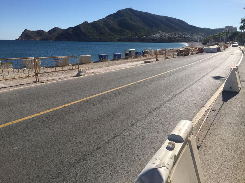 La Carretera de l'Albir romandrà tallada al trànsit del 7 al 10 de novembre