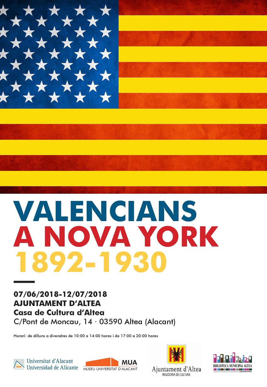 """Del 7 de juny al 12 de juliol  la Casa de Cultura d'Altea albergarà l'exposició """"Valencians a Nova York 1892-1930"""". Una mostra que il•lustra les migracions dels valencians a Nova York a partir d'una perspectiva comarcal."""