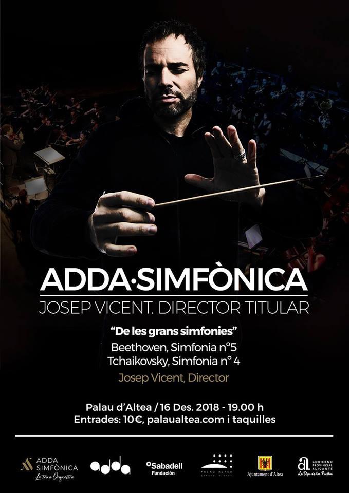 Josep Vicent presenta este miércoles el concierto ADDA Simfònica que llega el 16 de diciembre en Palau Altea