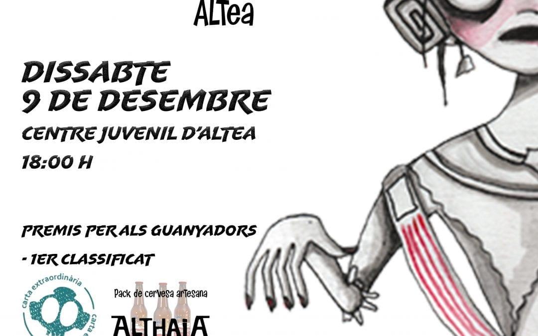 La Regidoria de Joventut organitza el primer torneig de 'la Fallera Calavera' a Altea
