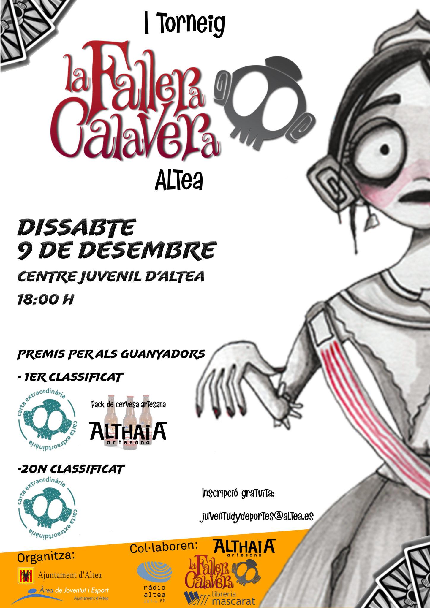 La Concejalía de Juventud organiza el primer torneo de 'la Fallera Calavera' en Altea