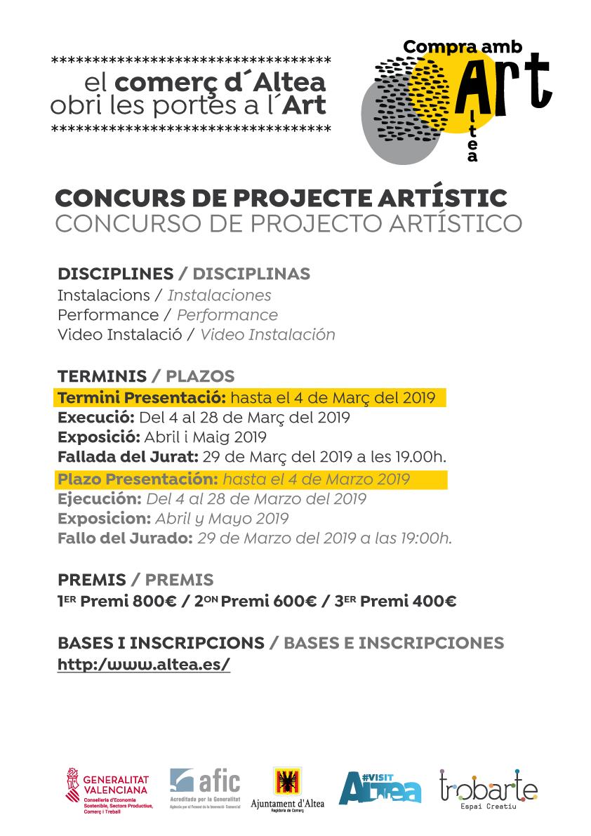 """Comerç amplia al 4 de març el període de presentació de projectes del concurs """"Compra amb Art"""""""