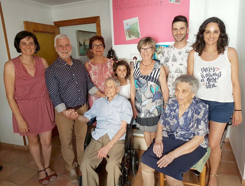 Baptista Pascual compleix 100 anys