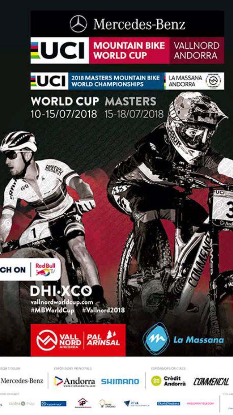 Del 15 al 18 de juliol, membres del Team C.C. Altea del Club Ciclista Altea estaran competint a Andorra al Mundial de Mtb Xco de Master