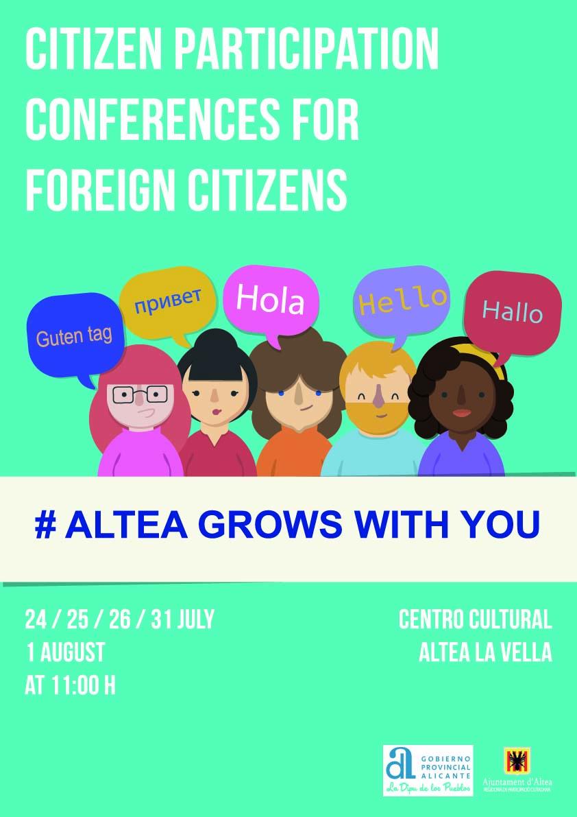 L'Ajuntament d'Altea presenta les Jornades de Participació Ciutadana per als residents estrangers