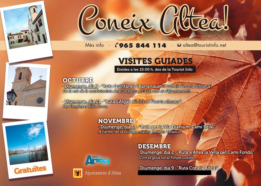 """Diumenge 11 de novembrees realitzarà la """"Ruta per la Via Dianium-Camí Reïal"""", a càrrec de la biòloga marina Rebeca Velasco, l'eixida és a les 10:00 horesdes de la Tourist Info"""