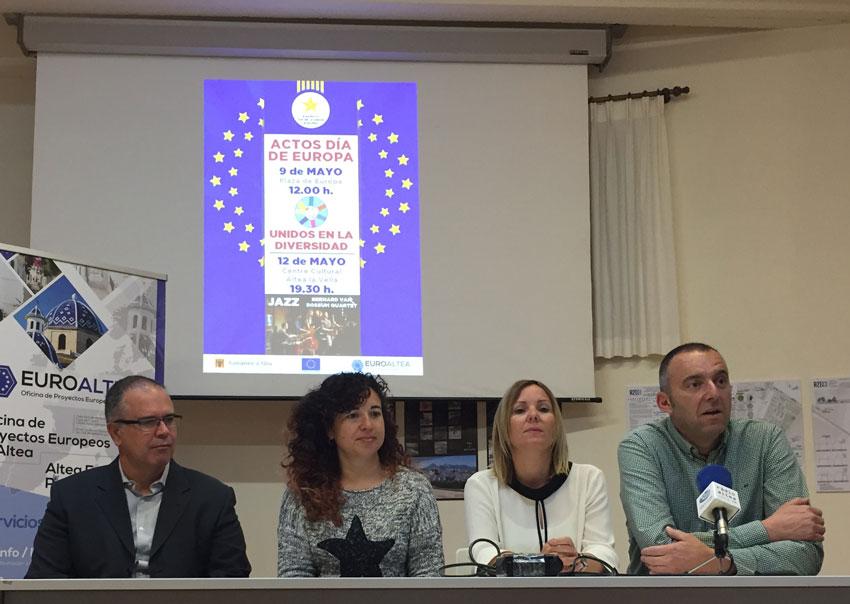 Altea celebrarà el Dia d'Europa amb una àmplia participació ciutadana