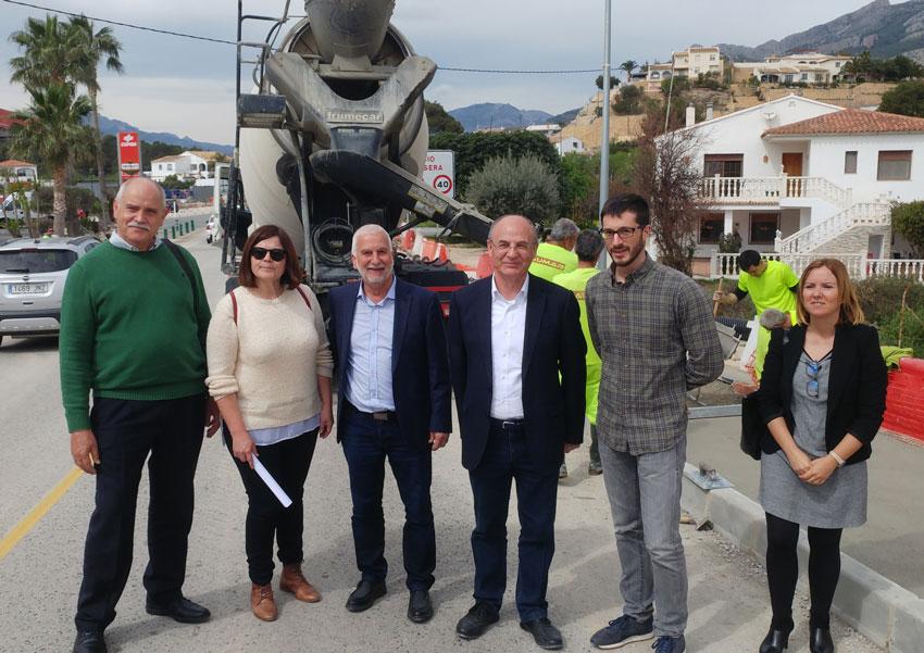 El Director General d'Infraestructures i l'Alcalde giren visita a les obres de millora d'accessos a Altea la Vella