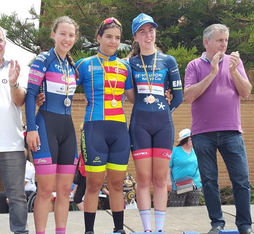 La ciclista alteana Cristina Succi es proclama subcampiona autonòmica de contrarellotge individual