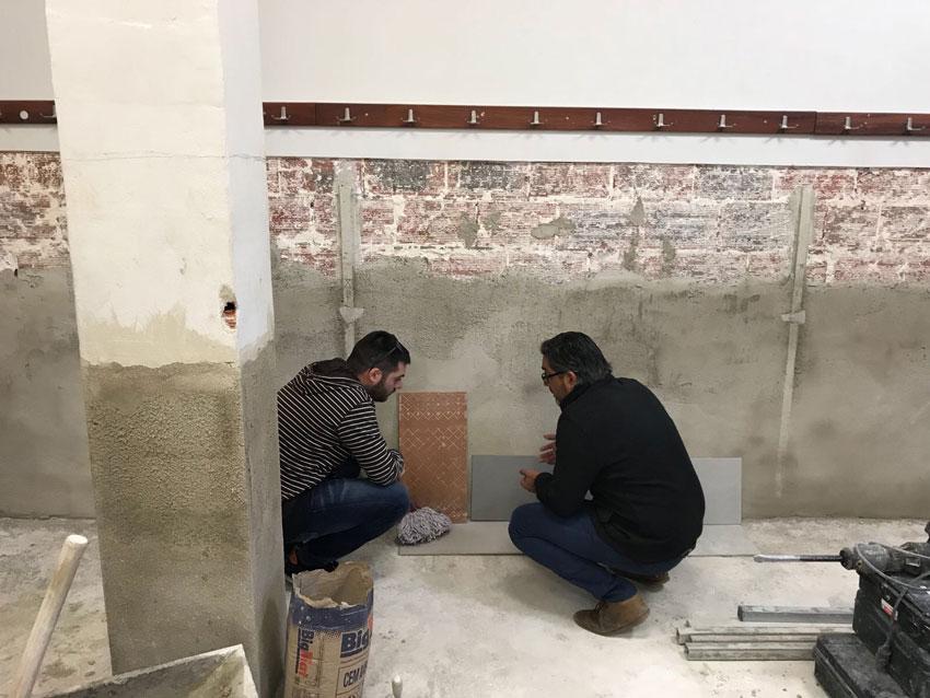 S'inicien les obres de reparació dels vestuaris del Palau dels Esports