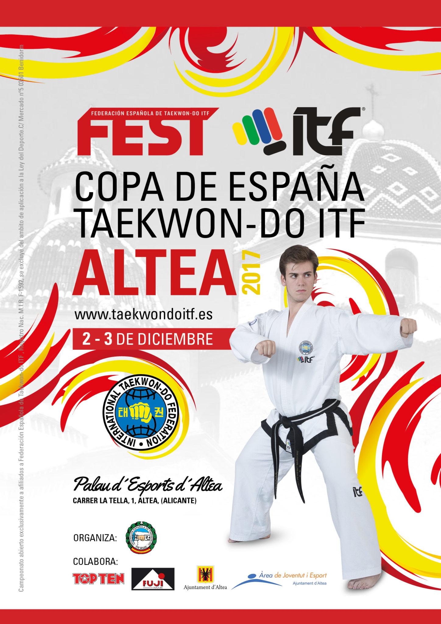 Altea acollirà els dies 2 i 3 de desembre la Copa d'Espanya de Taekwon-do ITF
