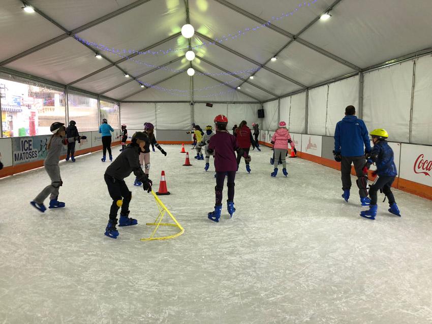 La pista de gel registra una intensa activitat