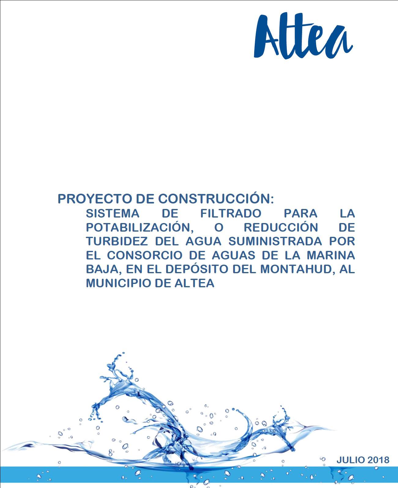 L'edil de Cicle Hídric, Roque Ferrer, respon a les acusacions del PP i informa de les actuacions en qüestió del proveïment de l'aigua a Altea