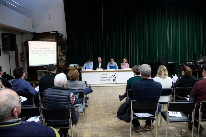 L'Alcalde presideix l'Assemblea General de la Societat Filharmònica Alteanense