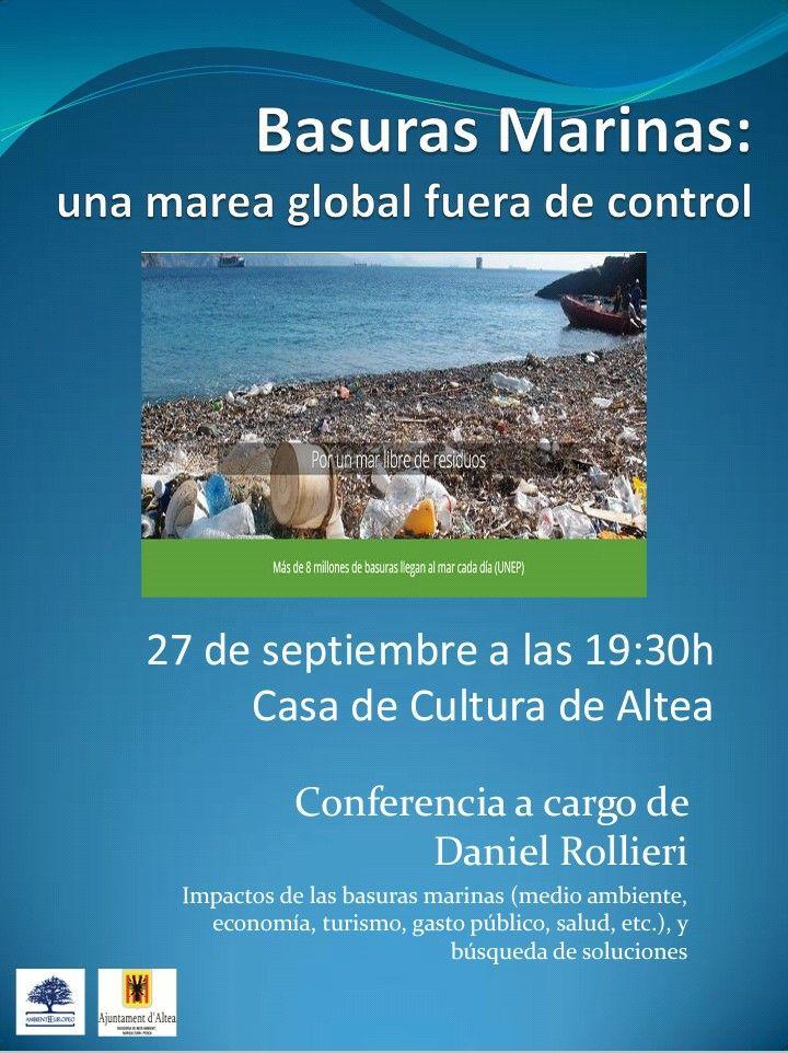 """Medi Ambient presenta la conferència """"Escombraries Marines; una marea global fora de control"""""""