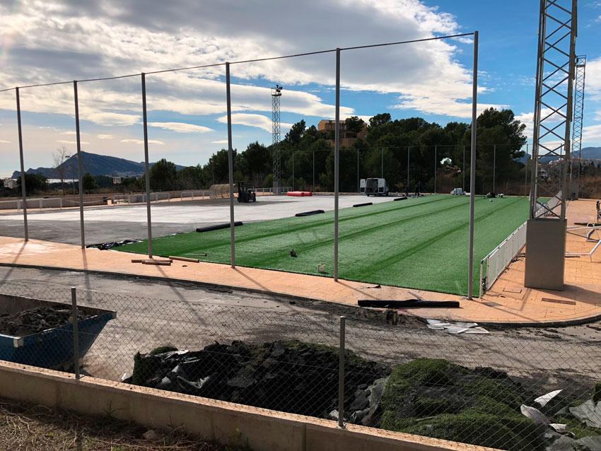 Comienza la última fase de mejora del campo de fútbol de Altea la Vella