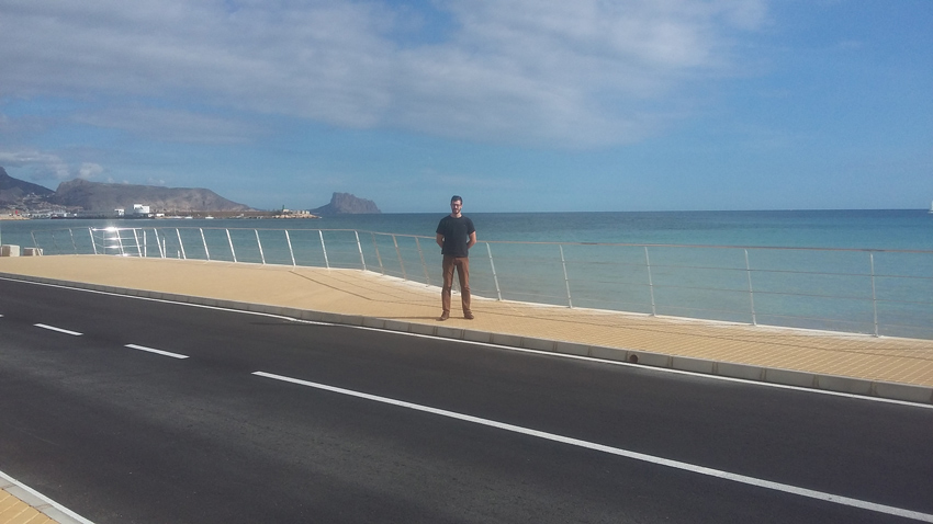 Finalitzen les obres de millora i reparació en el front litoral de Cap Blanch en la carretera de l'Albir
