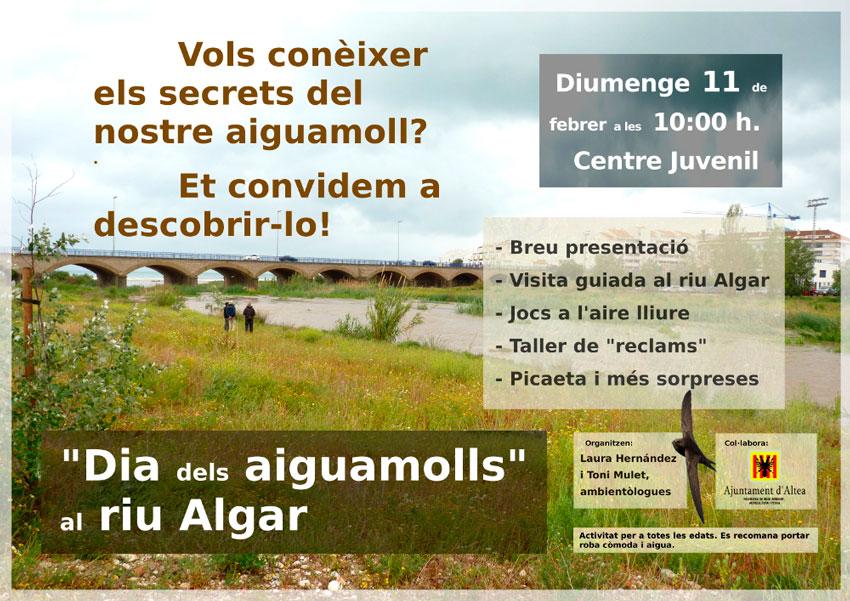 Medio Ambiente celebra el día de los humedales con una jornada en el río Algar