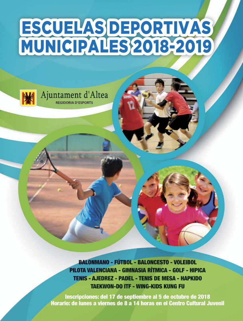 Deportes presenta la actividad de las Escuelas Deportivas Municipales para el presente curso