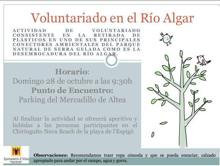 Medi Ambient organitza una jornada de voluntariat al Riu Algar