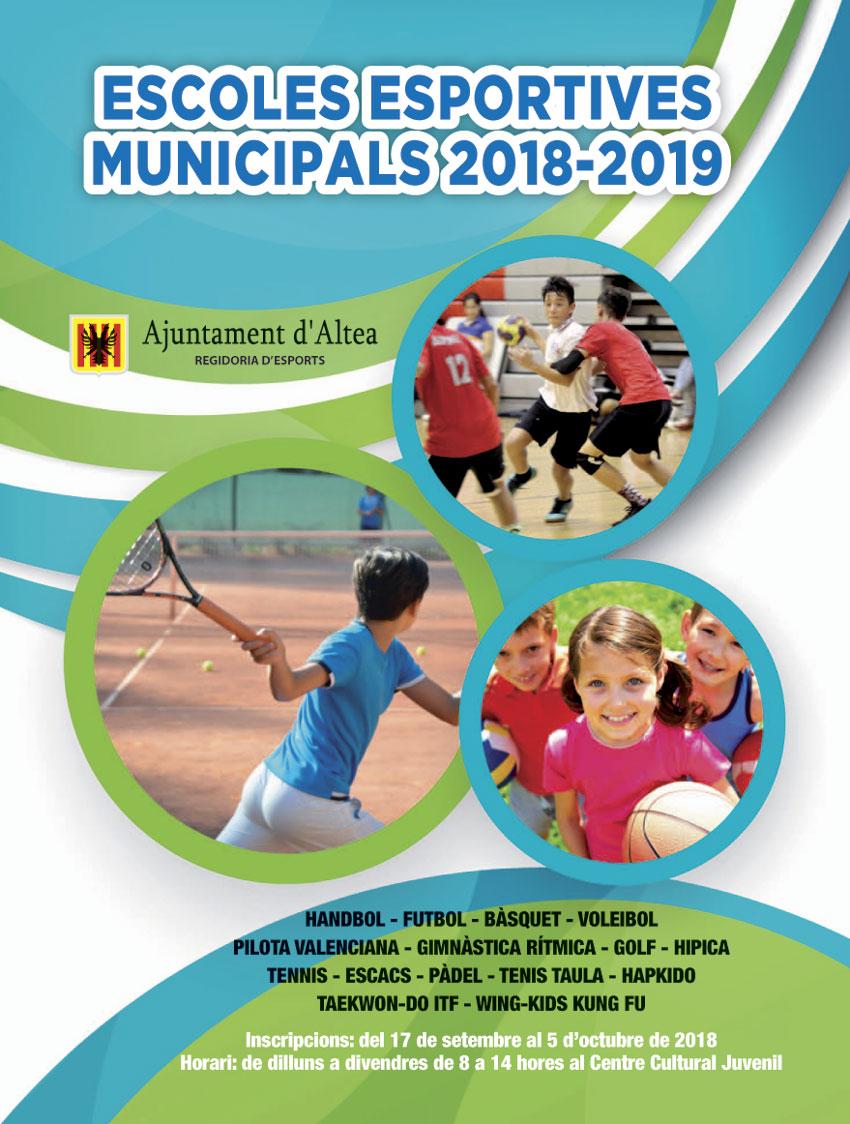 Esports presenta l'activitat de les Escoles Esportives Municipals per al present curs