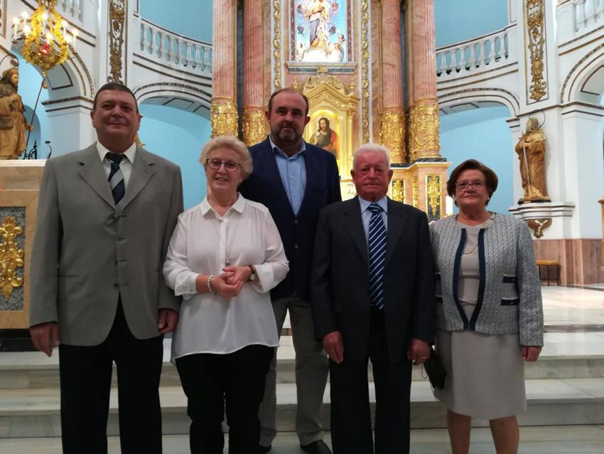 El edil de Fiestas asiste a la presentación en sociedad de la nueva Comisión del Stmo. Cristo del Sagrario