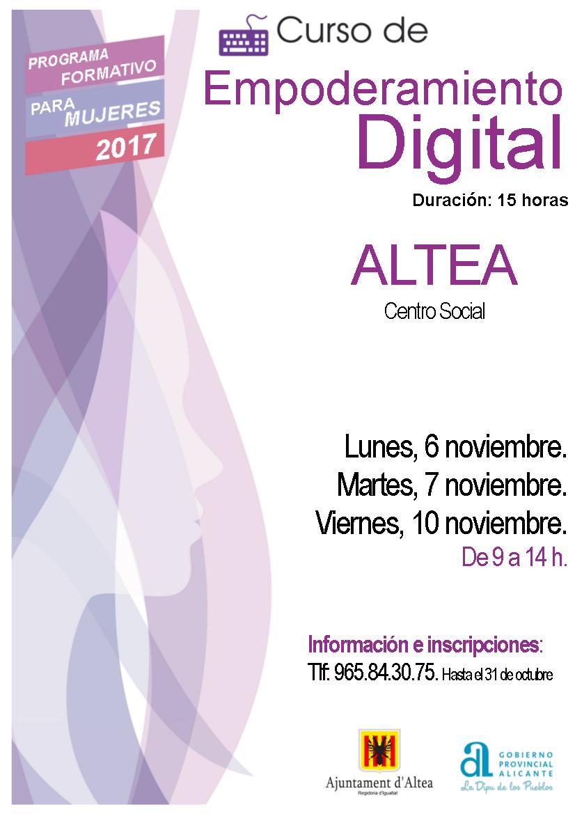 Igualtat posa en marxa el Curs d'Empoderament Digital per a dones