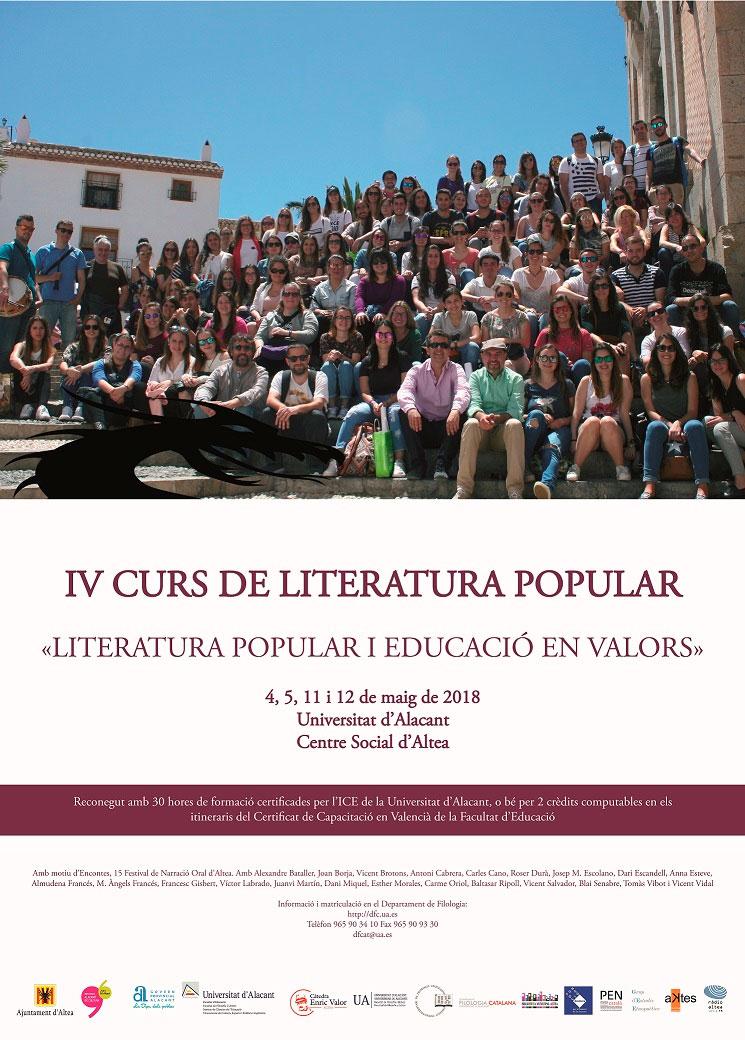 La Universidad de Alicante celebra una nueva edición de su Curso de Literatura Popular en Altea