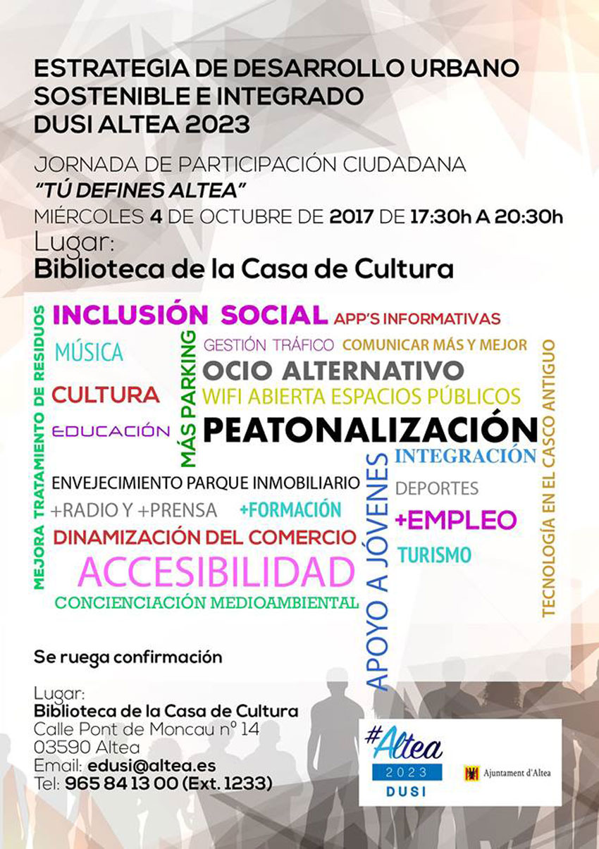Demà dimecres 4 d'octubre, nova Jornada de Participació Ciutadana