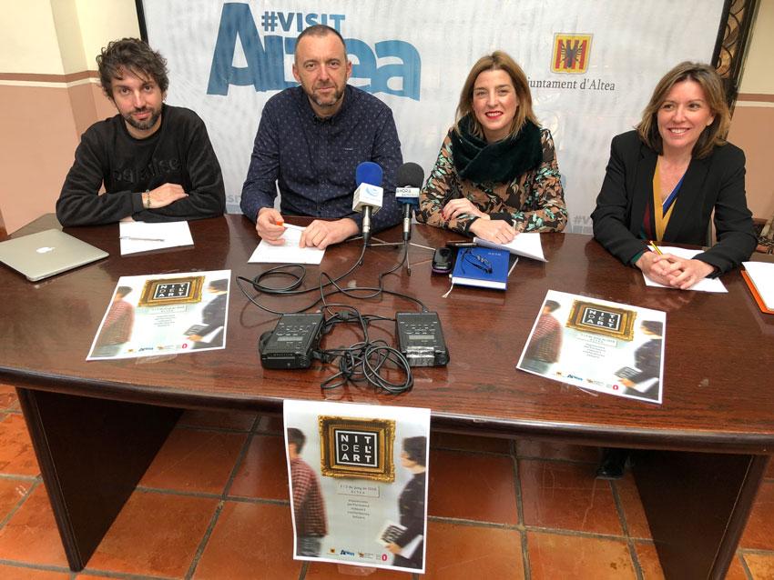 La Concejalía de Cultura del Ayuntamiento de Altea presenta una convocatoria de proyectos para participar en La Nit de l'Art 2018
