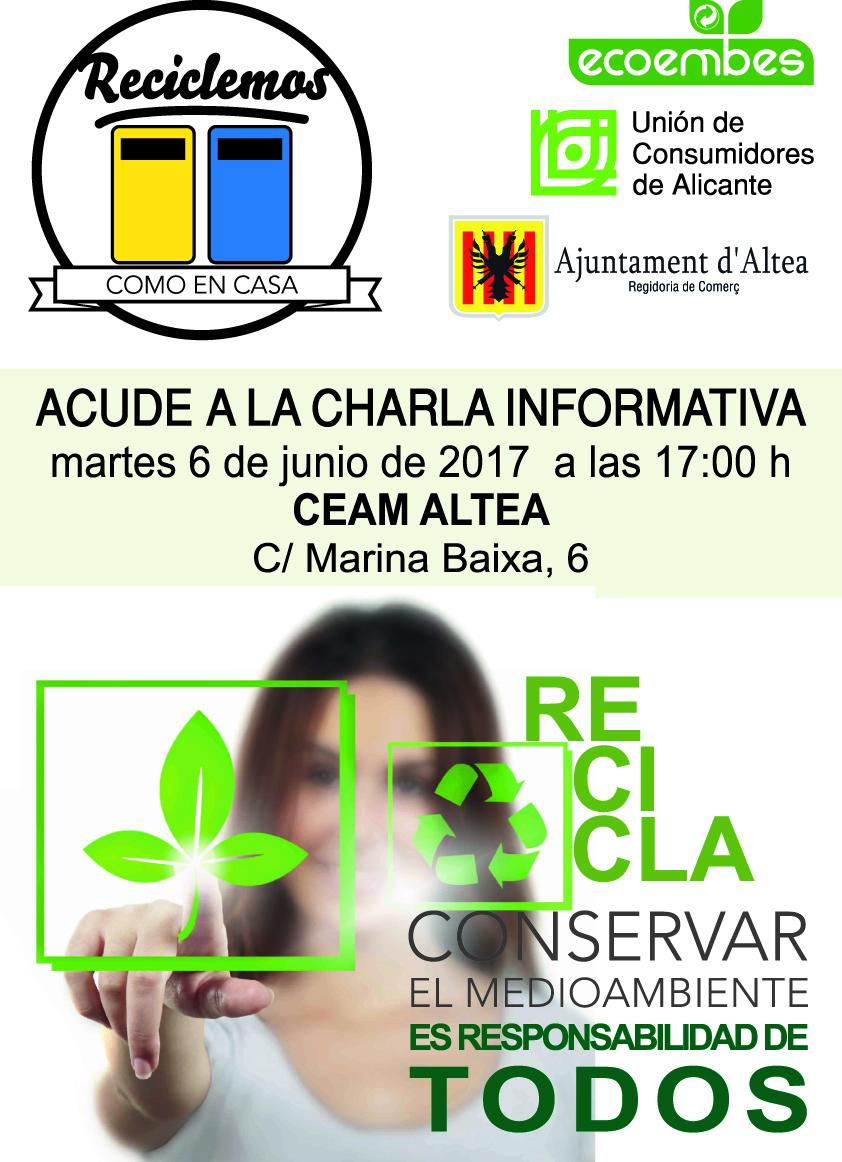 Comerç anuncia una xarrada informativa sobre el reciclatge oberta a tot el públic