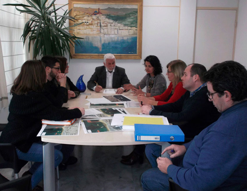 El Servei Provincial de Costes i el Govern Municipal avancen en el projecte de la  segona fase del front litoral