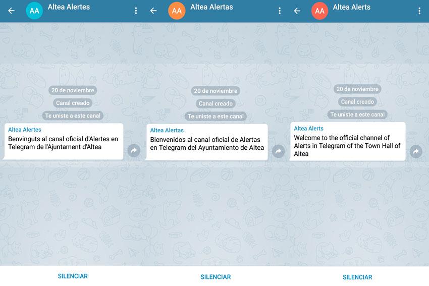 Nuevas Tecnologías amplía el sistema de avisos oficiales del Ayuntamiento de Altea en la plataforma de Telegram