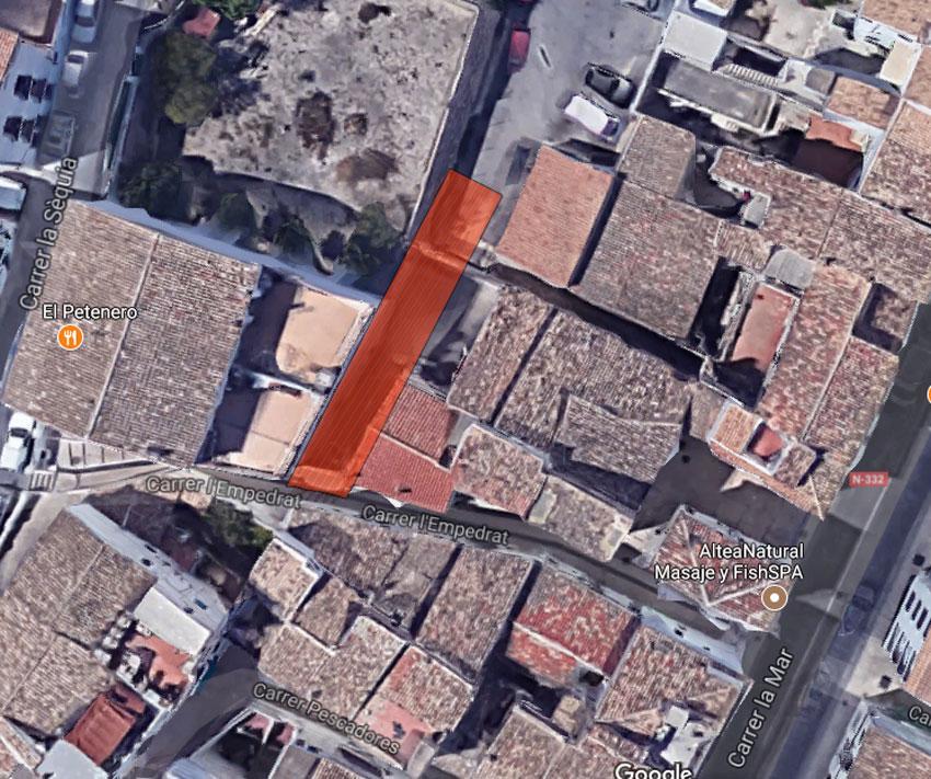 La conexión entre las calles Filarmónica y Empedrat, proyecto más votado al proceso participativo del Ayuntamiento de Altea