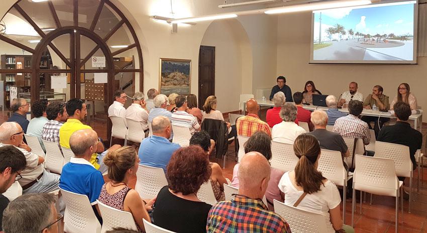 El Ayuntamiento da a conocer el avance del proyecto de remodelación y ampliación del Paseo Marítimo