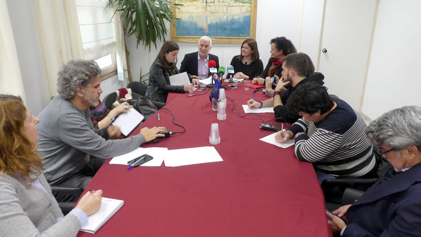 Jaume Llinares parla de projectes de futur durant el desdejuni informatiu amb els mitjans