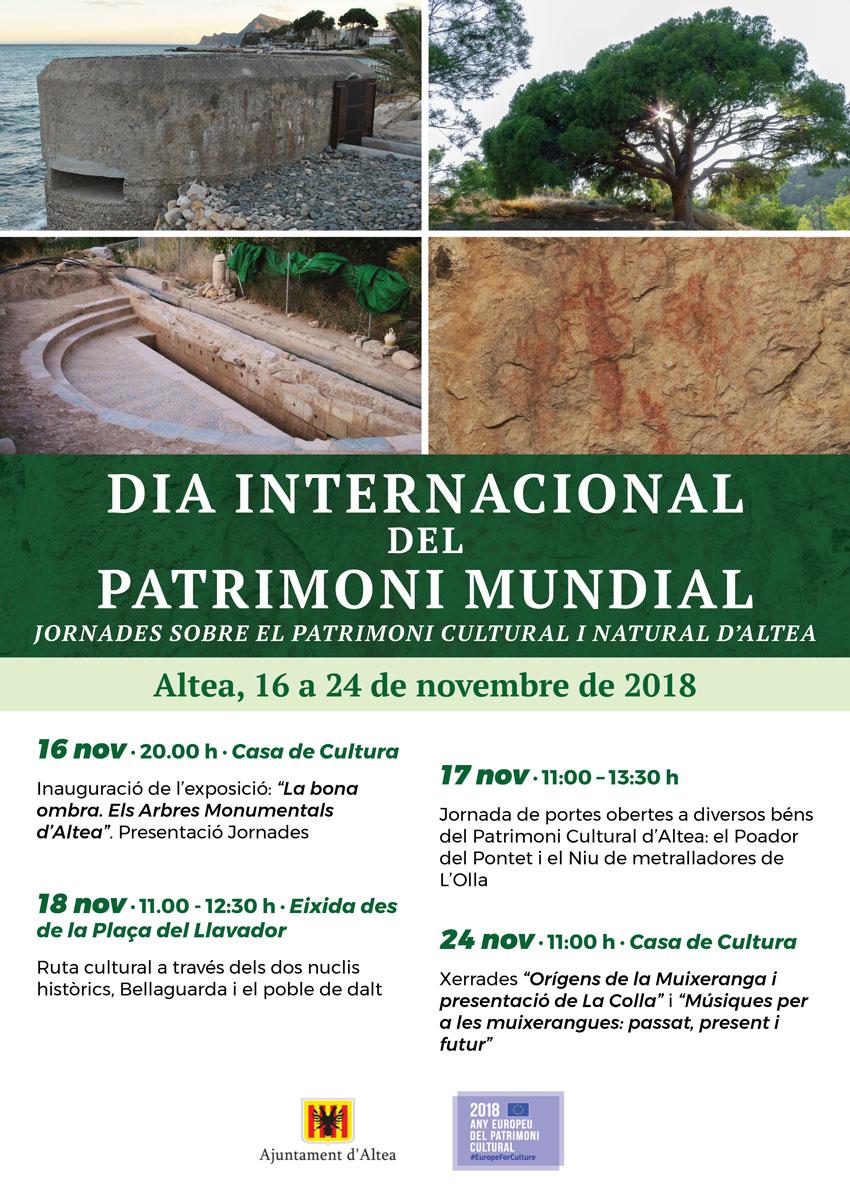 Altea comença les celebracions del Día Internacional del Patrimoni Mundial