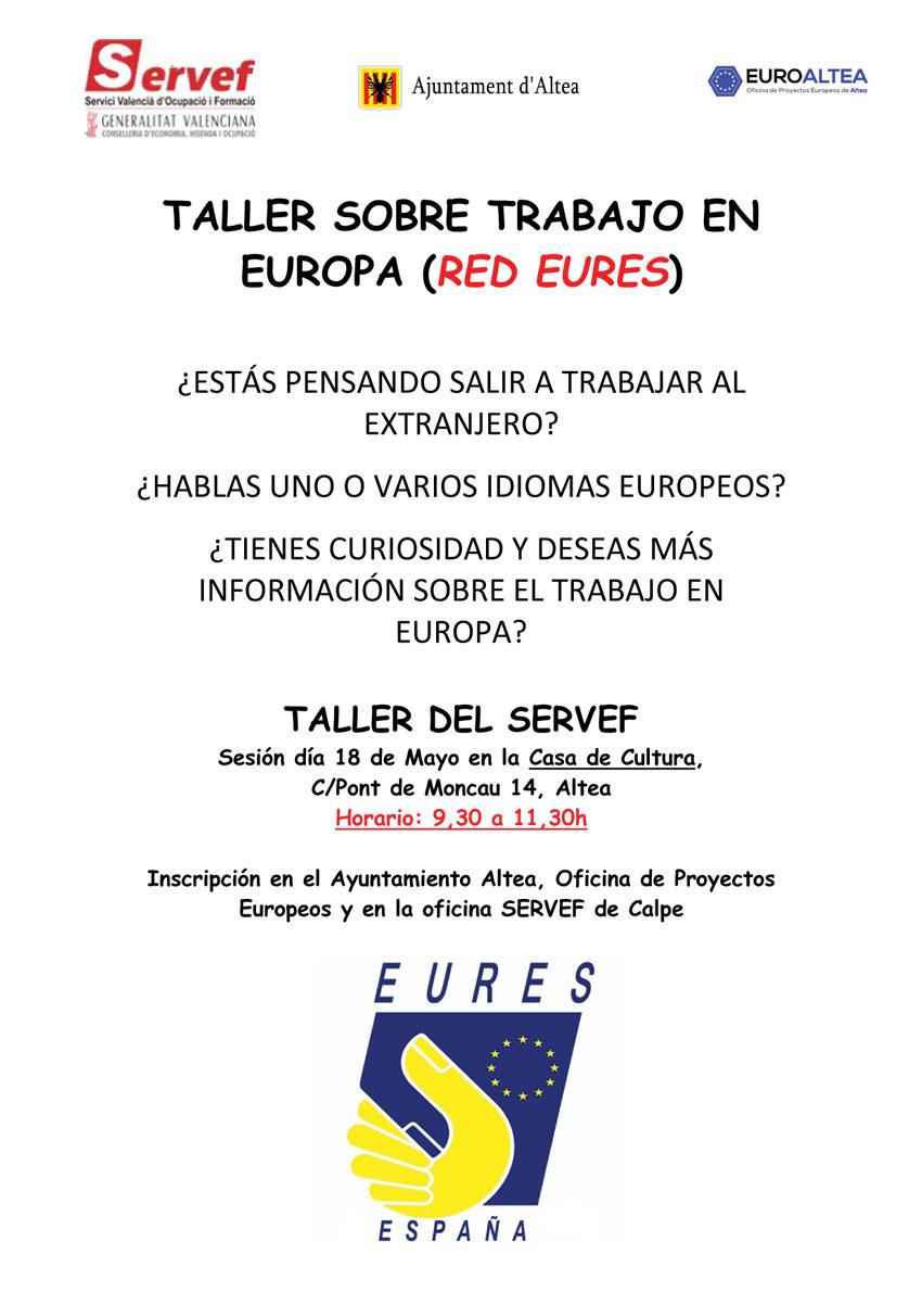 L'Ajuntament i el SERVEF presenten un taller sobre ocupació a Europa