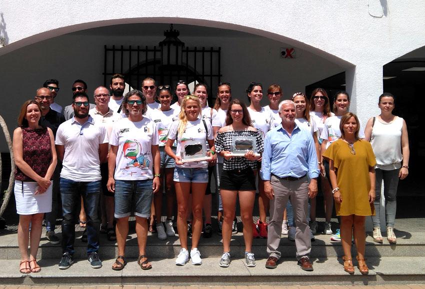 L'Ajuntament reconeix els èxits del vòlei femení i la ciclista Cristina Succi