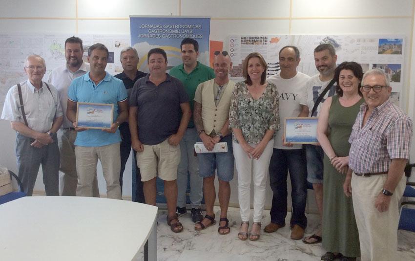Comercio entrega los premios de la jornada gastronómica ''La Cuina de les Barques''