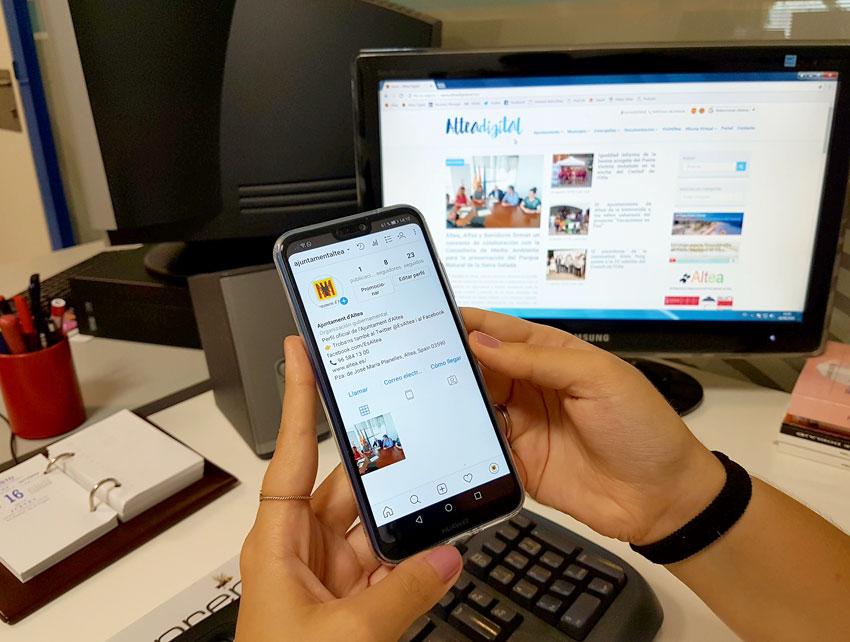 L'Ajuntament i Ràdio Altea inauguren el seu compte d'Instagram
