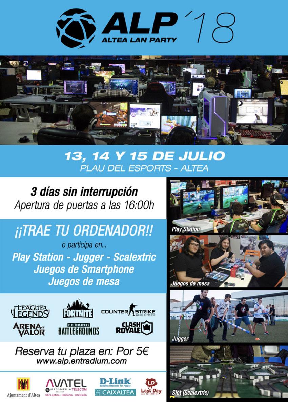 Altea Lan Party: 13, 14 i 15 de juliol al Palau dels Esports. Reserva la teua plaça per 5€ a www.alp.entradium.com
