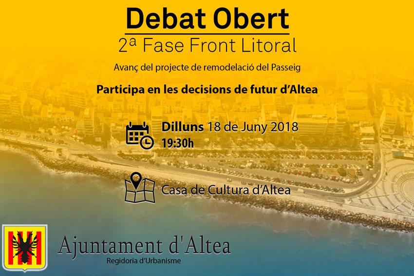 El próximo lunes, a las 19: 30h en la Casa de Cultura, se presenta a la ciudadanía el avance del proyecto de remodelación y ampliación del Paseo del Mediterráneo