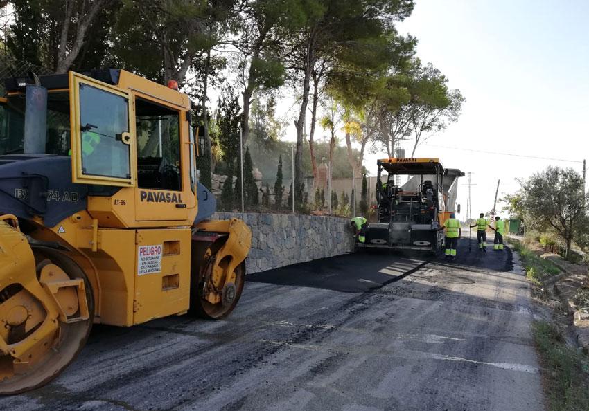 Infraestructuras inicia un plan de asfaltado que beneficiará a diversas vías de Altea