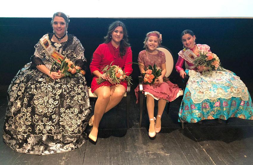Sofía Jiménez Cortés i Ainhoa González de Zárate Such, reines major i infantil de les Festes Patronals d'Altea 2019