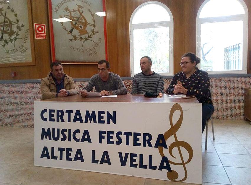 La Recreativa de Altea la Vella ya conoce las bandas que participarán en su Certamen de Música Festera